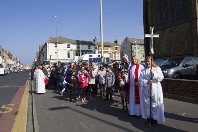 About to start the Palm Sunday procession