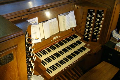 The Organ Console.